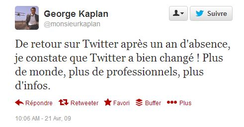 first tweet avril 2009 Kaplan 02