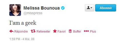 first tweet mai 2008 Bounoua
