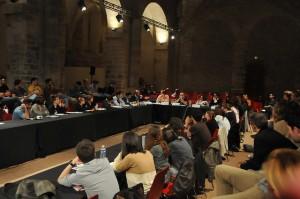 Les journalistes ont rencontré les étudiants lors d'un débat aux assises 2014 (Crédit photo : Alexandre La Monaca)