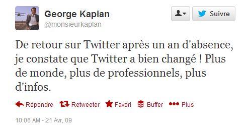 first tweet avril 2009 Kaplan 02