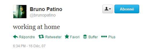 first tweet déc 2007 Patino