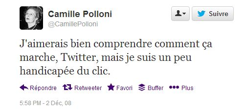 first tweet déc 2008 Polloni