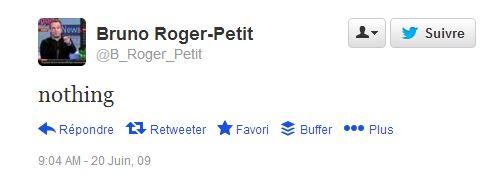 first tweet juin 2009 BRPetit