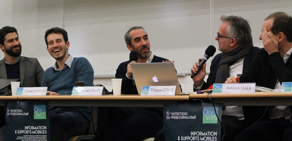 Entretiens du webjournalime 2016 : Laurent Keller provoque l'hilarité des intervenants