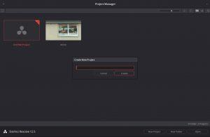 Ouverture du logiciel/ new project/ titre/ create/ open pour débuter le montage.