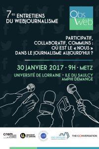 Entretiens du webjournalisme 2017 - Affiche
