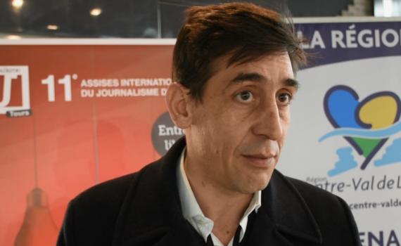 Matthieu Mabin, grand reporter à France 24, a animé un atelier aux Assises du journalisme sur le thème de la protection des reporters sur le terrain