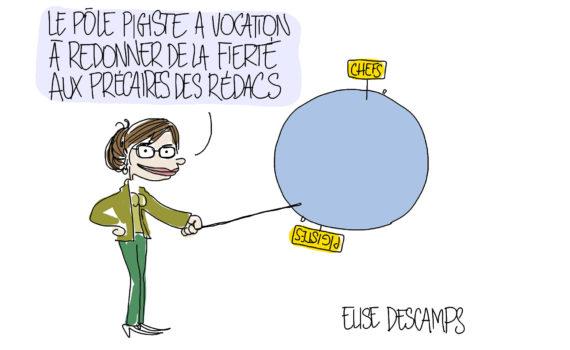 Entretiens du webjournalisme 2018 - dessin de Catherine Créhange